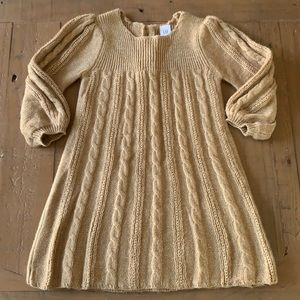 4/$20 gap shimmery gold sweater dress